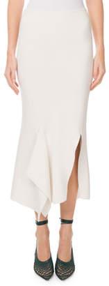 Roland Mouret Lucca Slit-Side Draped Jersey Midi Skirt