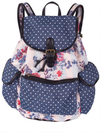 Delia's Floral And Dots Backpack