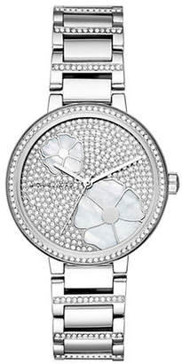Michael Kors Womens Courtney Stainless-Steel Three-Hand Watch