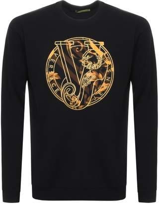Versace Crew Neck Sweatshirt Black