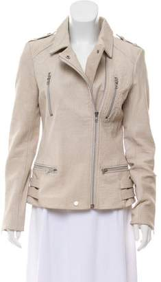 Walter Baker Zip Accented Leather Jacket