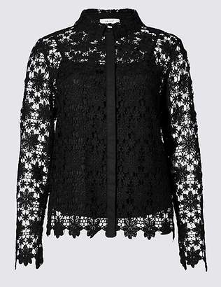 Per Una Daisy Lace Long Sleeve Shirt