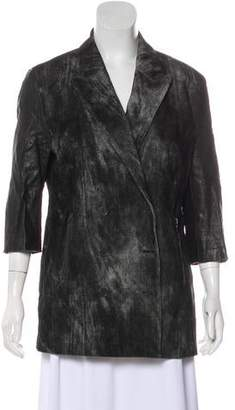 Alexander Wang Leather-Accented Wool Jacket
