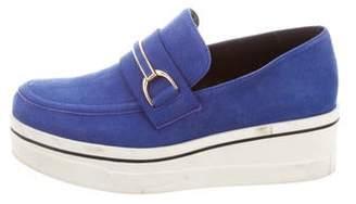 Stella McCartney Vegan Suede Platform Loafers