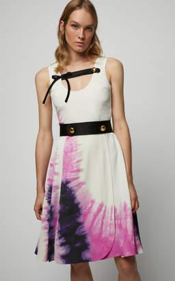 Prada Tie-Dye Printed Scoop Neck Dress