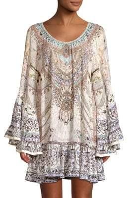 Camilla Silk Frill Shirtdress