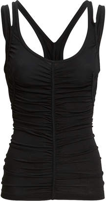 Alexander Wang Ruched Black Tank