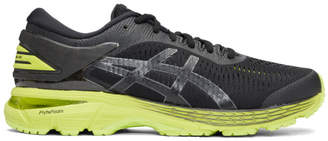 Asics Black and Green Gel-Kayano 25 Sneakers