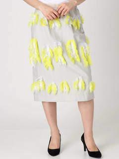 Square Cut Jacquard Skirt