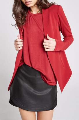 BCBGeneration Red Open Blazer