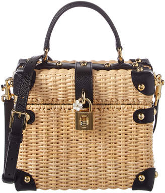 Dolce & Gabbana Box Straw Bag