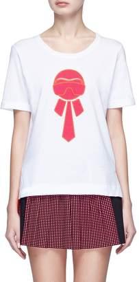 Fendi Sport Glitter 'Karlito' print T-shirt