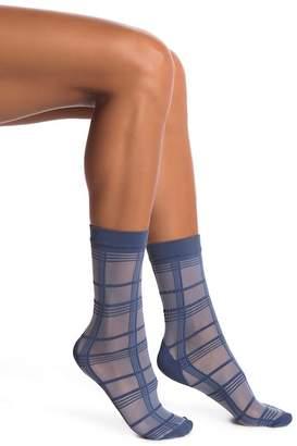 Pretty Polly Grid Stripe Ankle Socks