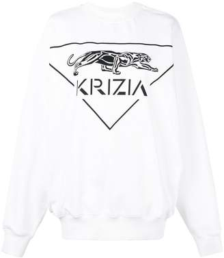 Krizia round neck sweatshirt