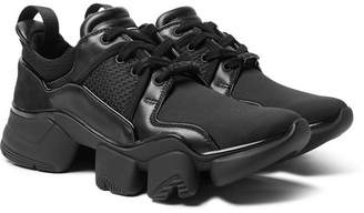 Givenchy Jaw Neoprene, Suede, Leather and Mesh Sneakers - Men - Black