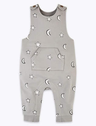 Marks and Spencer Moon & Stars Print Dungarees