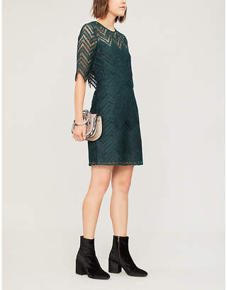 Maje Rosalba cutout lace dress