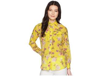 Lauren Ralph Lauren Petite Floral Button Down Shirt