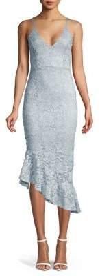 Quiz Sleeveless Asymmetrical Lace Dress