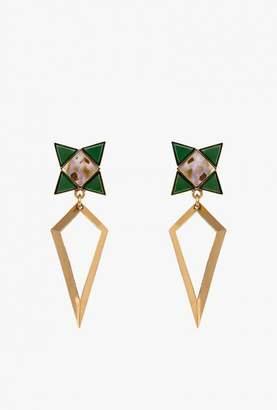 Nicole Romano Spear Star Abalone Earrings