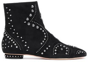 Valentino Studded Suede Ankle Boots