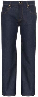 Khaite Wendell cropped wide-leg cotton-blend jeans