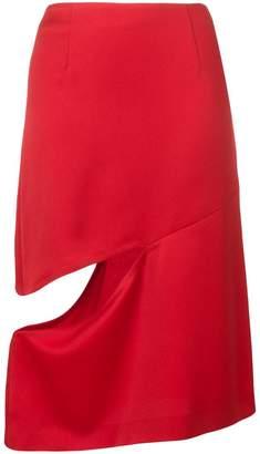 Maison Margiela cut-out knee length skirt