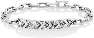 Ambre Victoria Women's Diamond Chevron-Engraved Bracelet