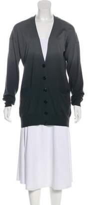 Stella McCartney Wool Ombré Cardigan Grey Wool Ombré Cardigan