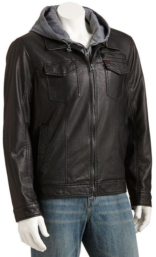 Levi's faux-leather hipster jacket - men