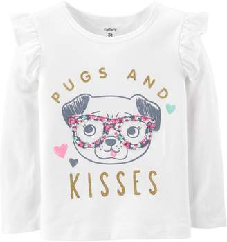 Carter's Baby Girl Graphic Ruffled Tee