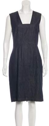 Les Copains Sleeveless Denim Dress