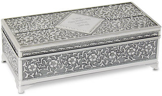 Engraved Large Antique Jewellery Box