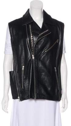 Ann Demeulemeester Distressed Leather Vest