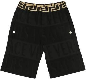 Versace (ヴェルサーチ) - YOUNG VERSACE コットンブレンドデヴォレ ショートパンツ