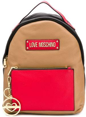 Love Moschino panelled backpack