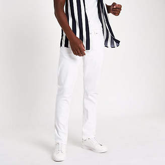 River Island White Dylan slim fit jeans