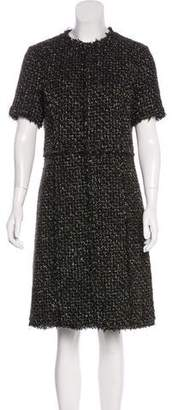 Michael Kors Short Sleeve Metallic Dress