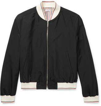 Thom Browne Grosgrain-Trimmed Wool-Blend Bomber Jacket
