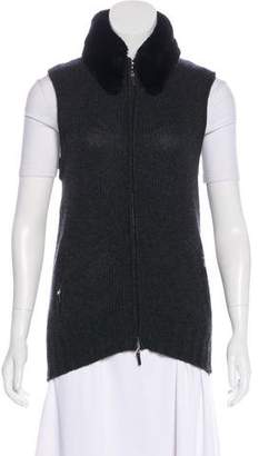 Worth Cashmere Fur-Trimmed Vest
