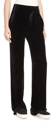 Vince Velvet Wide-Leg Trousers, Black $395 thestylecure.com