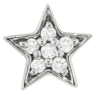 Andrea Fohrman Mini Diamond Star Single Stud Earring - White Gold