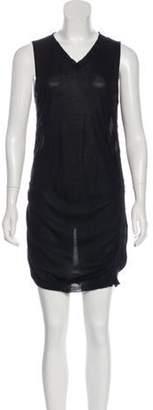 Maison Margiela V-Neck Mini Dress Black V-Neck Mini Dress