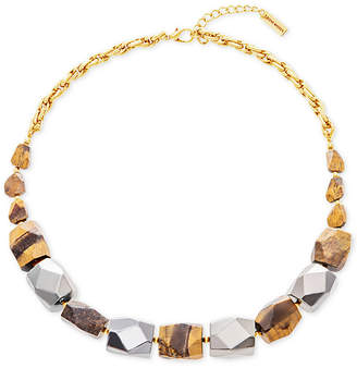 """Steve Madden Two-Tone & Stone Beaded Necklace, 24"""" + 3"""" extender"""