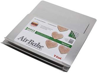 T-Fal Airbake Natural Aluminum 3-Pack All Size Cookie Sheet Set