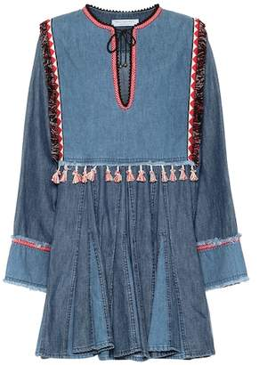 Philosophy di Lorenzo Serafini Tasseled denim minidress
