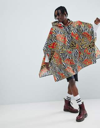 Jaded London Zebra Baroque Festival Poncho