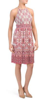 Jersey Short Morris Paisley Border Dress