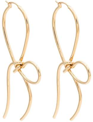 Simone Rocha Gold plated bow earrings