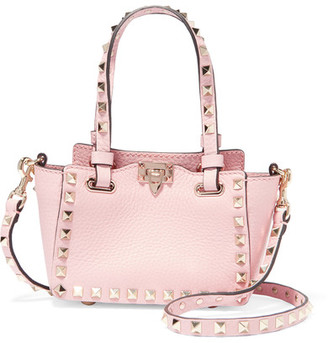 Valentino - The Rockstud Micro Textured-leather Shoulder Bag - Baby pink $1,445 thestylecure.com